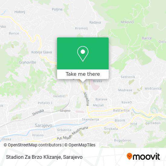 Stadion Za Brzo Klizanje map