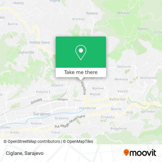 Ciglane map