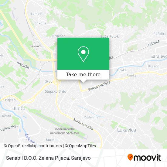 Senabil D.O.O. Zelena Pijaca map