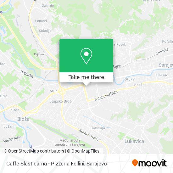 Cafe-Slastičarna Fellini map