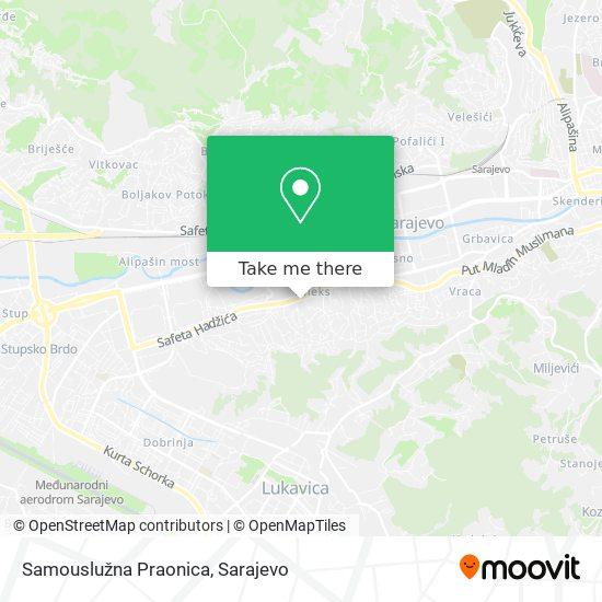 Samouslužna Praonica map