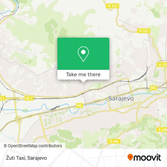 Žuti Taxi map