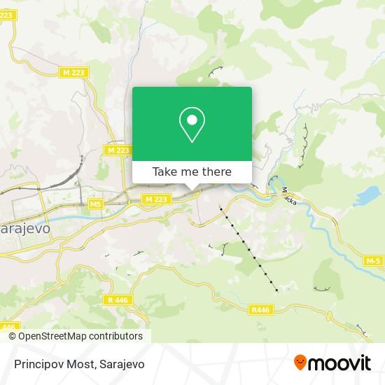 Principov Most map