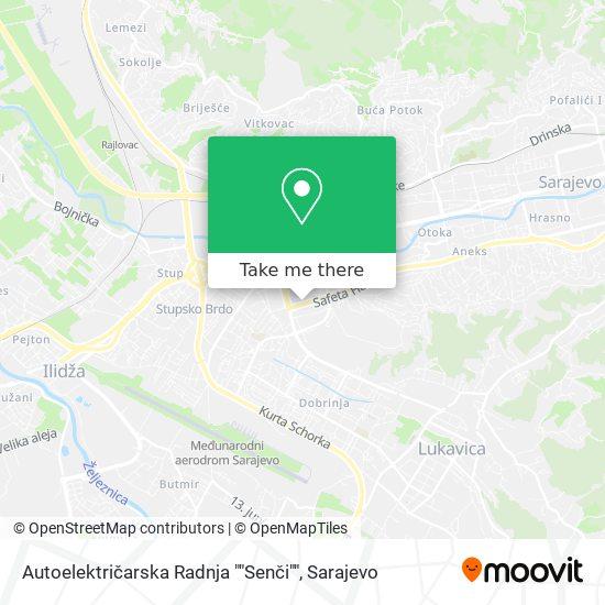 """Autoelektričarska Radnja """"Senči"""" map"""