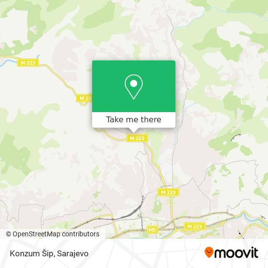 Konzum Šip map