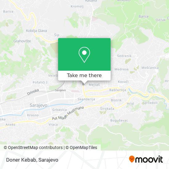 Doner Kebab map