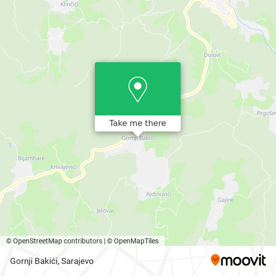 Gornji Bakići map