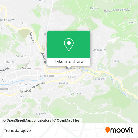 Zlatara Neretljakovic map