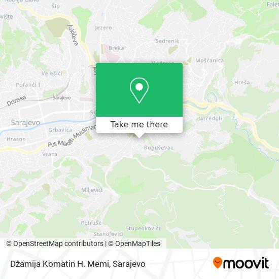 Komatin map