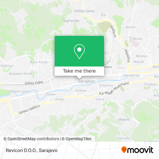 Revicon D.O.O. map