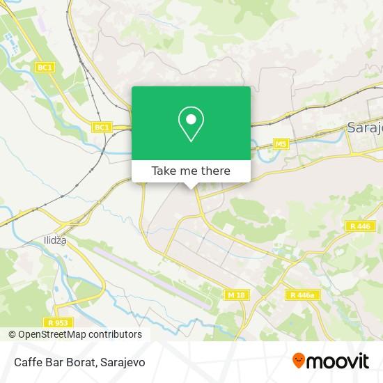 Caffe Bar Borat map