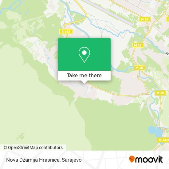 Nova Džamija Hrasnica map