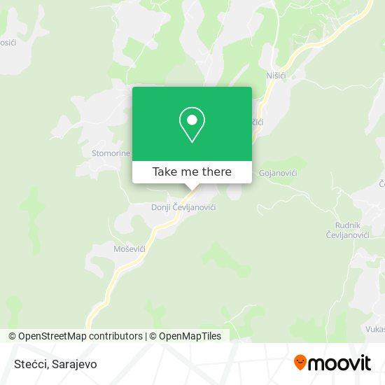 Stećci map