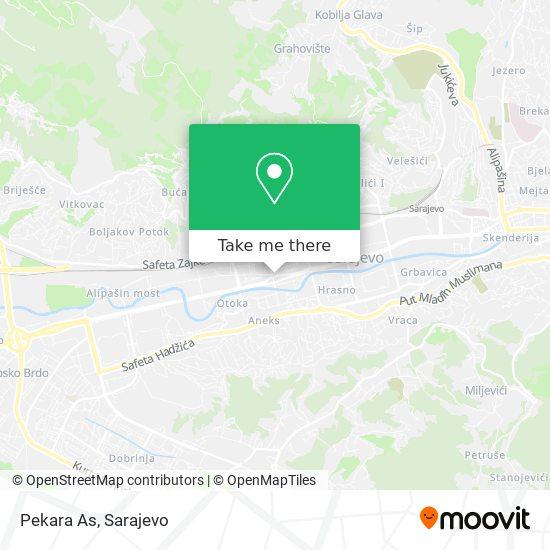 Pekara As map