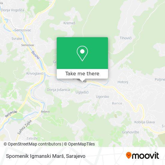 Spomenik Igmanski Marš map