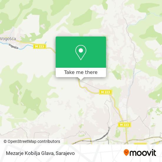 Mezarje Kobilja Glava map