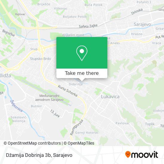 Dzamija Dobrinja 3b map