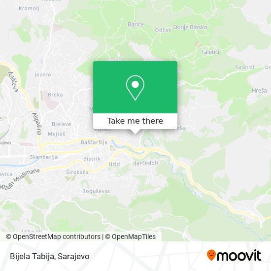 Bijela Tabija map