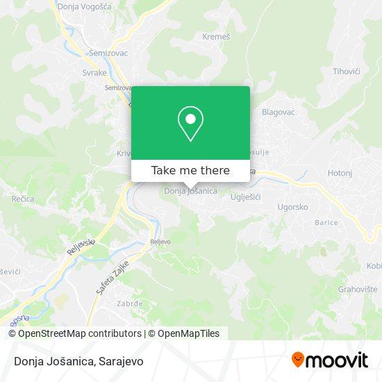 Donja Jošanica map