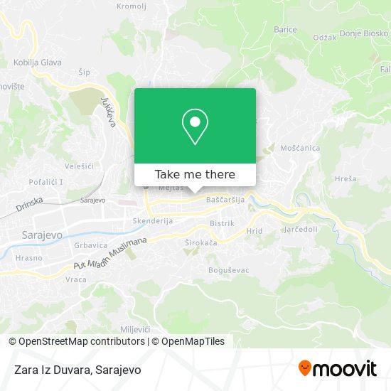 Zara Iz Duvara map