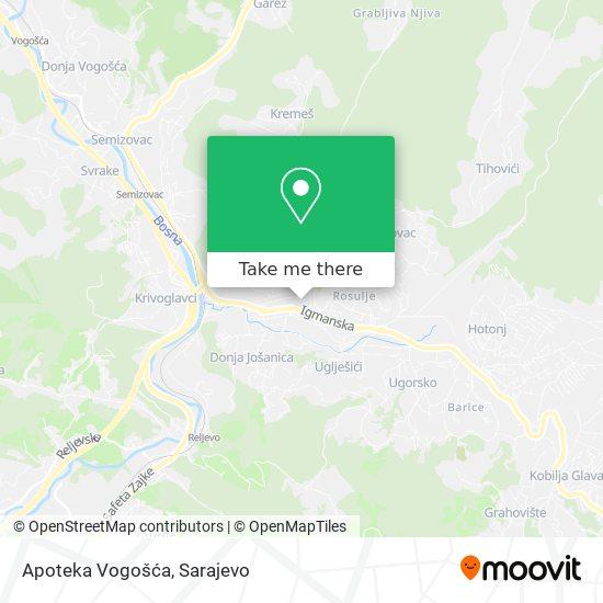 Apoteka Vogošća map
