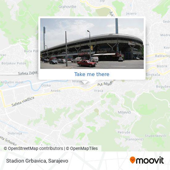 Stadion Grbavica map