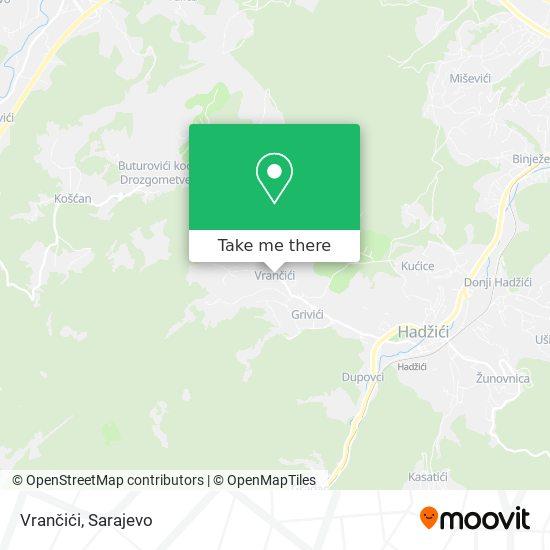 Vrančići map