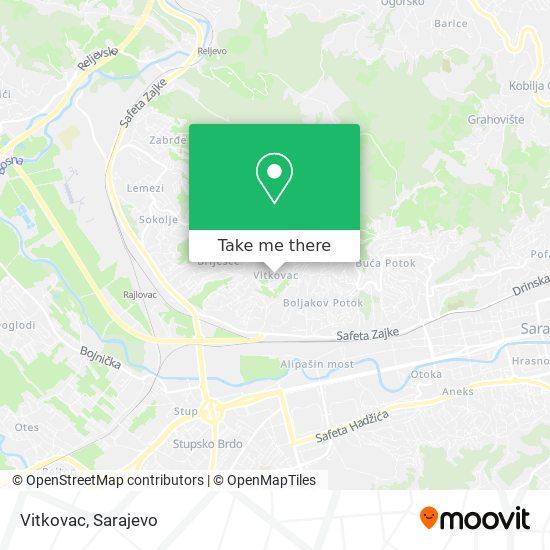Vitkovac map