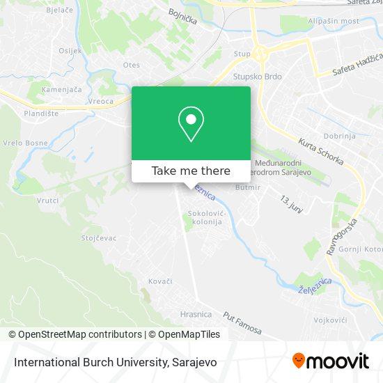 International Burch University map