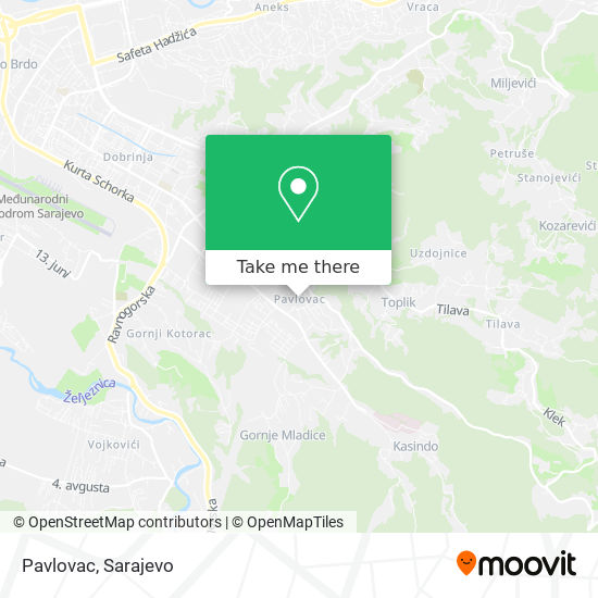Pavlovac map
