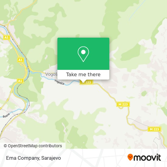 Ema Company map
