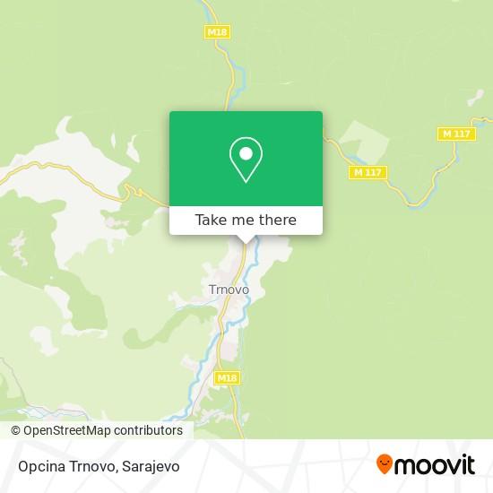Opcina Trnovo map