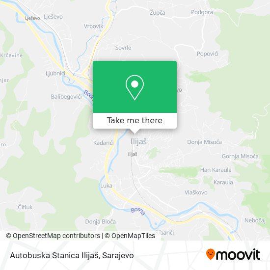 Autobuska Stanica Ilijaš map