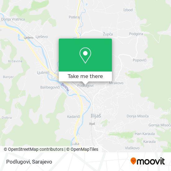 Podlugovi map