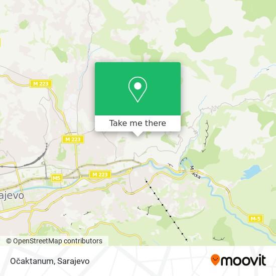Očaktanum map