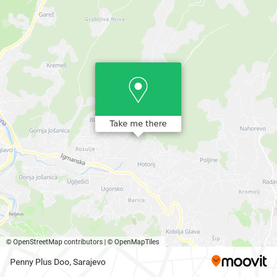 Penny Plus Doo map