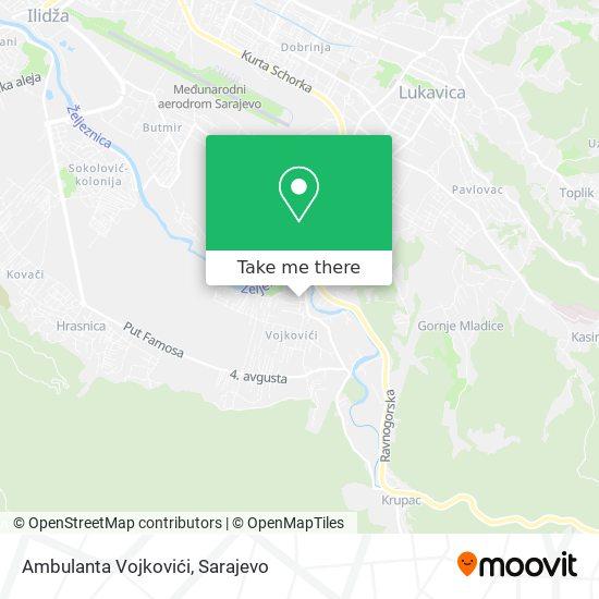 Dom Zdravlja - Vojkovići map