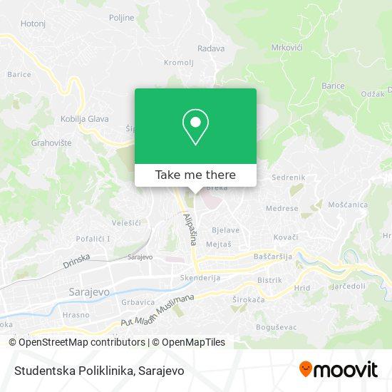 Studentska Poliklinika map