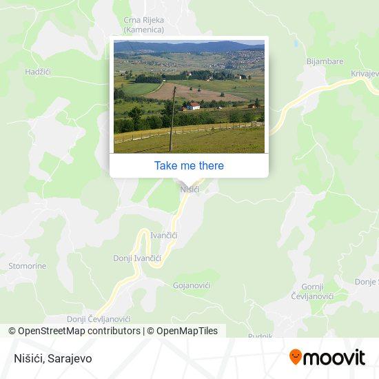 Nišići map