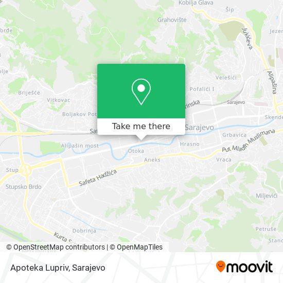 Apoteka Lupriv map