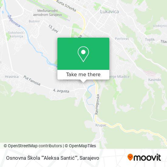 "Osnovna Skola ""Aleksa Santic"" map"