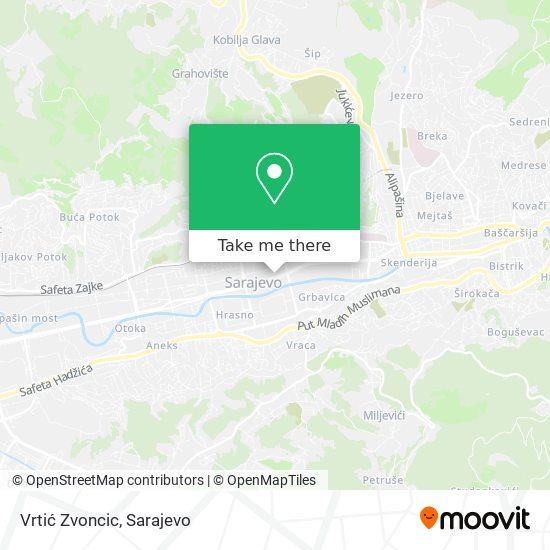 Vrtić Zvoncic map