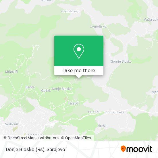 Доње Биоско / Donje Biosko map