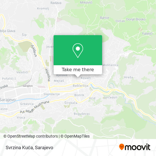 Svrzina Kuća map