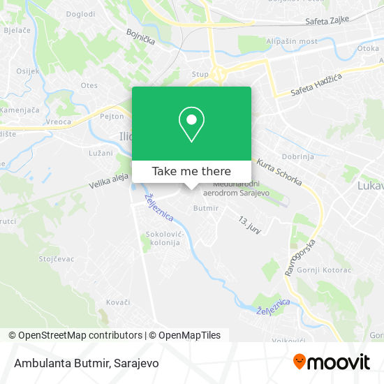 Ambulanta Butmir map