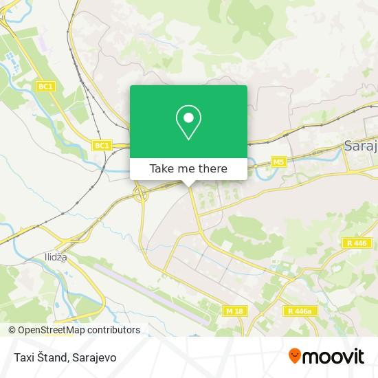 Taxi Štand map