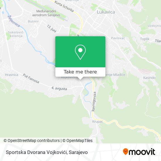 Sportska Dvorana Vojkovici map