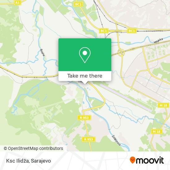 Ksc Ilidža map