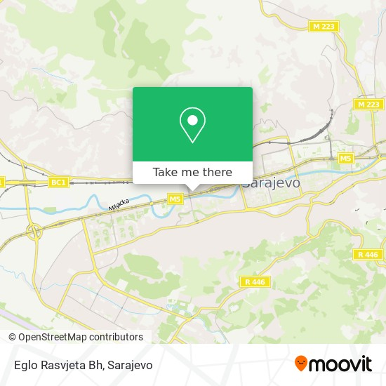 Eglo Rasvjeta Bh map
