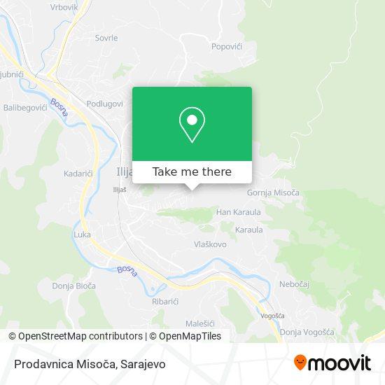 Prodavnica Misoča map
